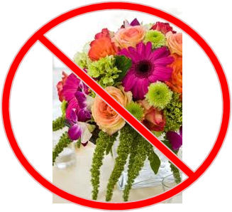 no flower weddings