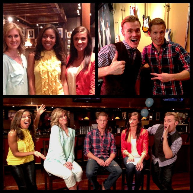 Alissa and Cameron with the Bachelor and Bachelorette Alums