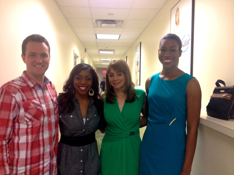 Us with the other Katie Couric Show guests Amanda McCracken and Candace Cliatt!