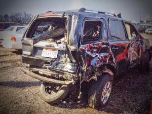 Ford Escape totaled