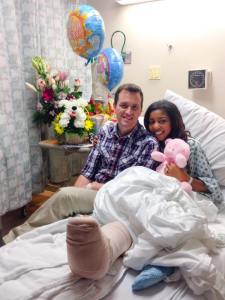 Alissa and Joe at Hospital