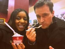 Coldstone Cups Couple Selfie!