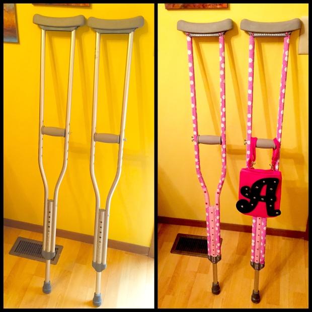 Decorated crutches