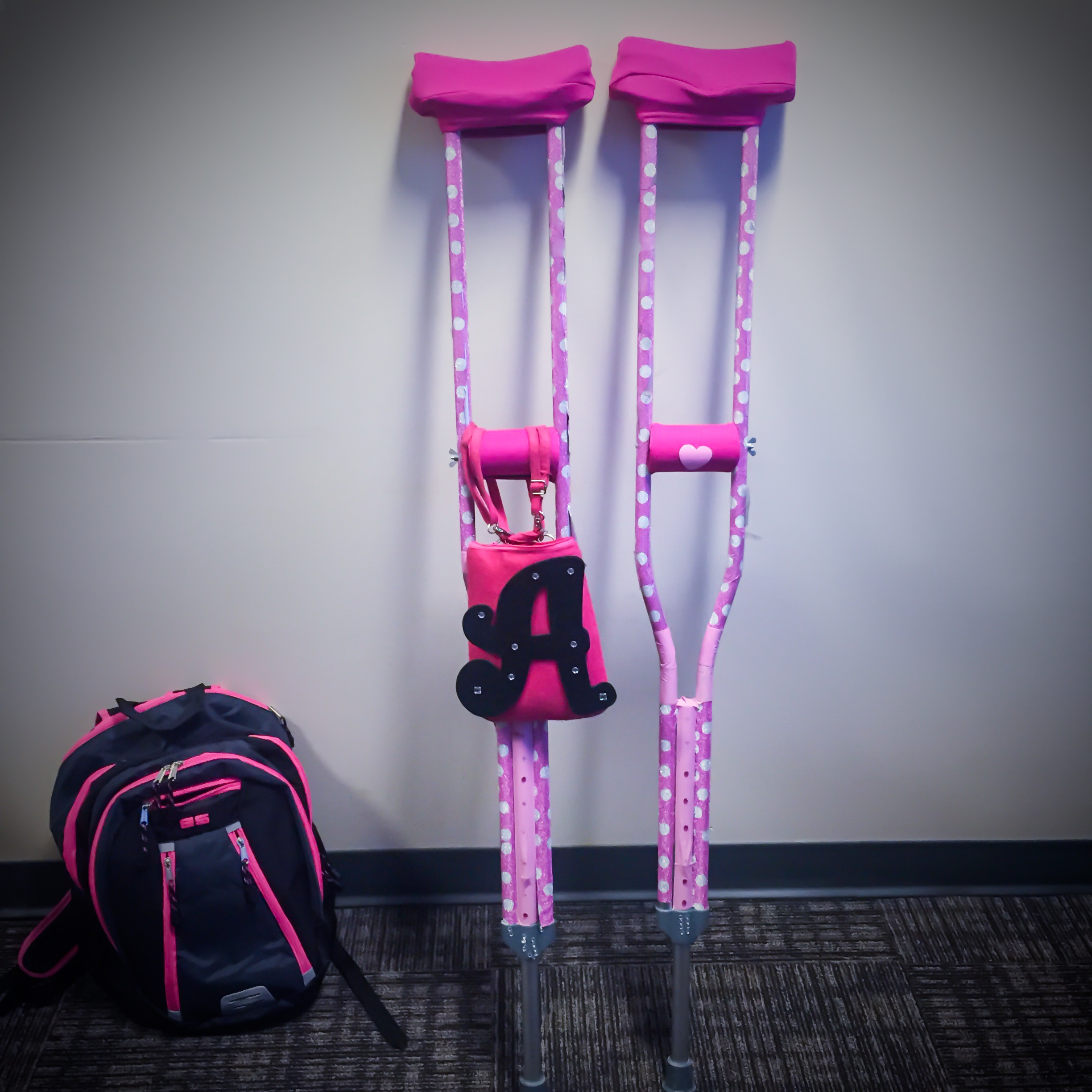 How to decorate your crutches alissa henry for How to decorate pictures