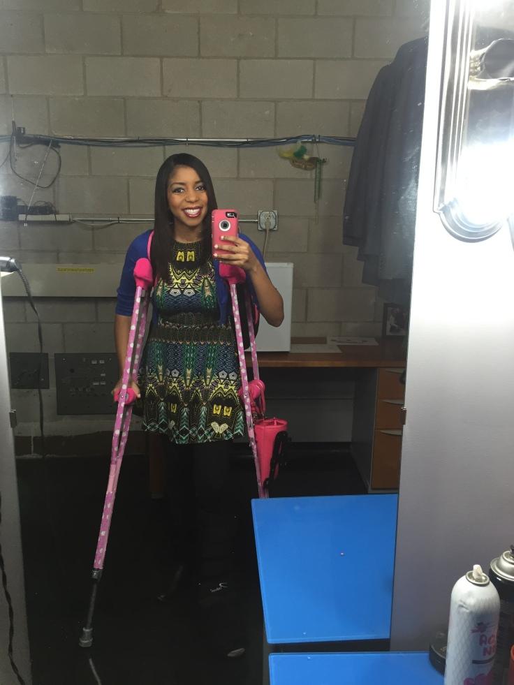 Pink crutches