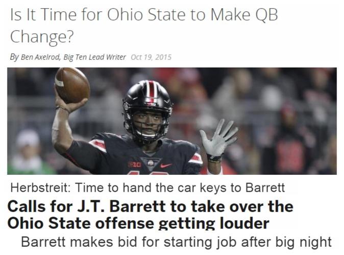 JT Barrett Headlines