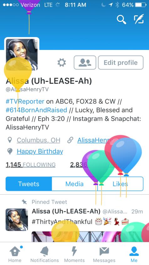 Happy Birthday from Twitter
