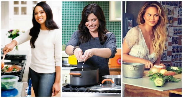 Ayesha Curry, Rachael Ray and Chrissy Teigen